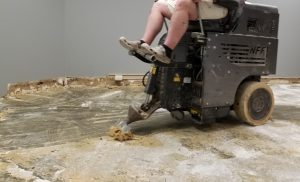 floor removal and glue removal